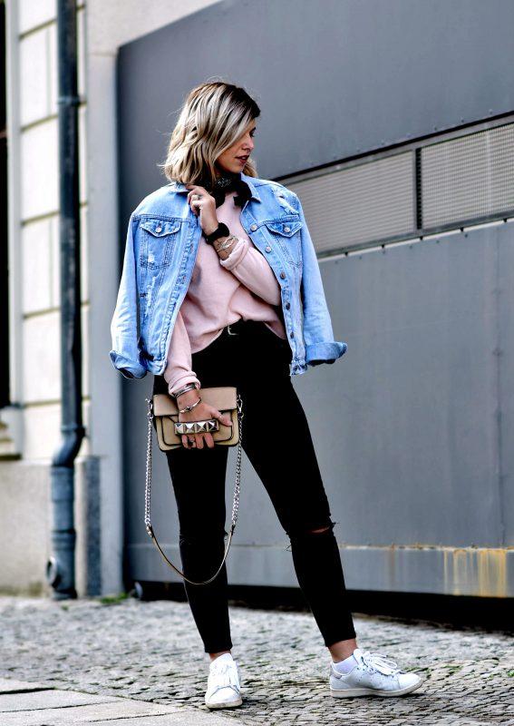 Fashionzauber-Jeansjacke-used-look-skinny-jeans-asos-stan-smith-fringe-sneaker-Modeblog-Berlin-Streetstyle-lookbook