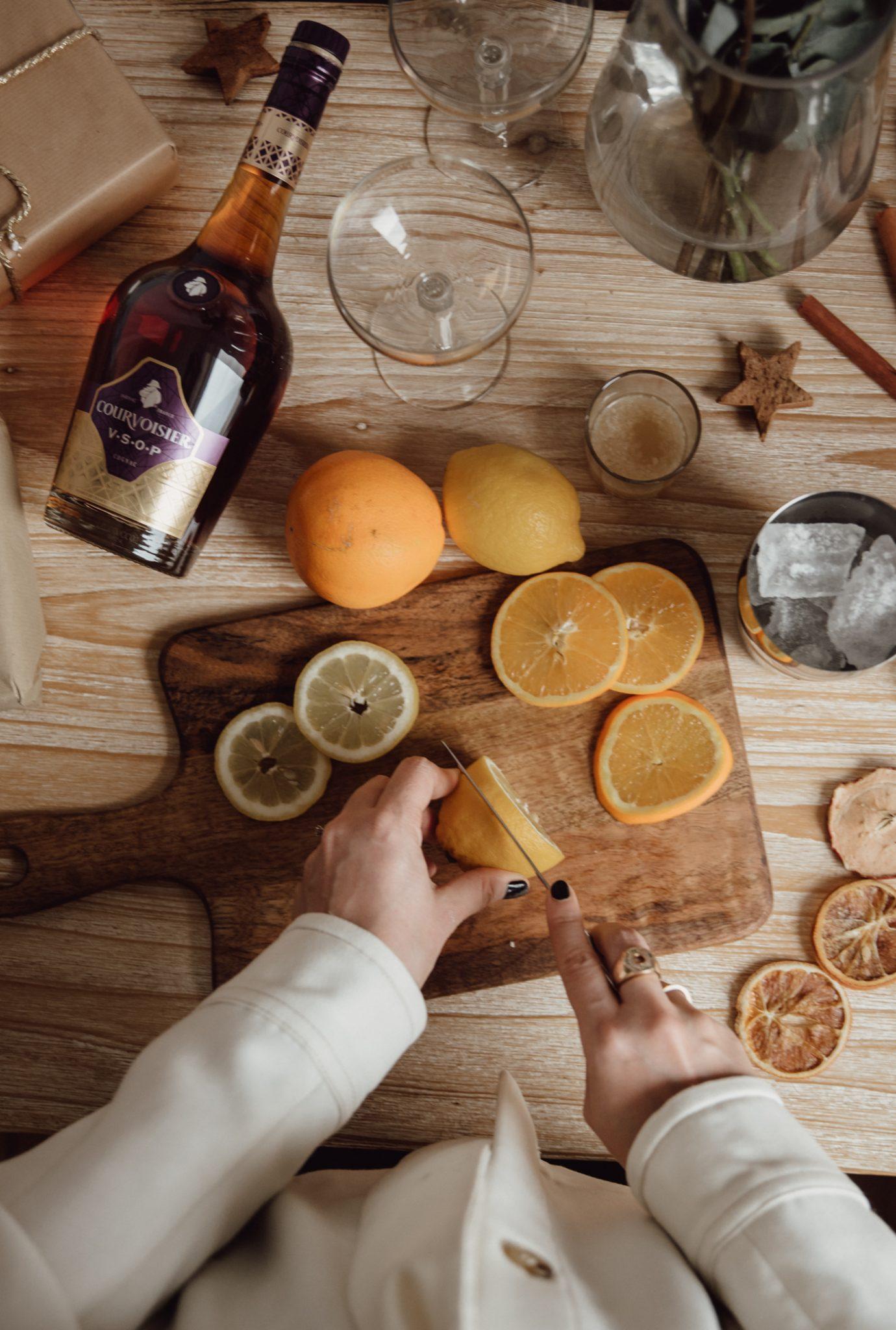 Cocktails für Weihnachten mit Courvoisier Cognac