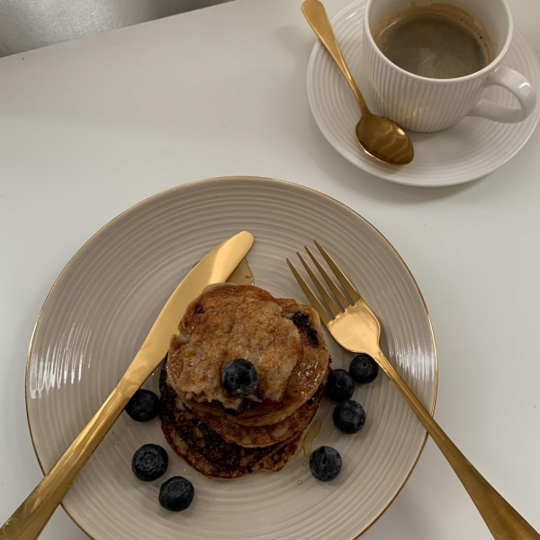 Vegan Coconut Blueberry & Banana Pancakes