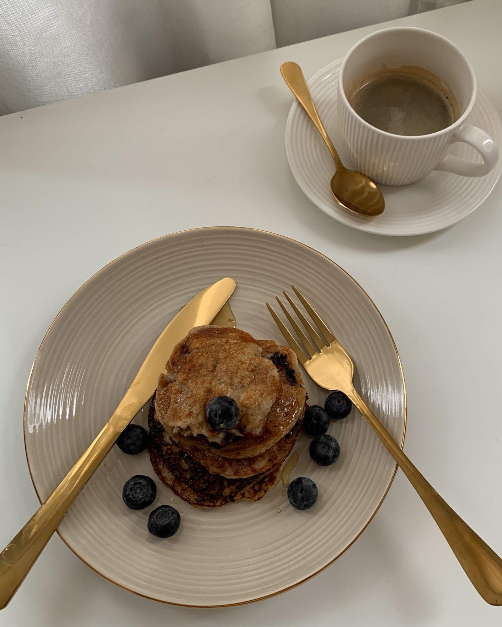 Image for Vegan Coconut Blueberry & Banana Pancakes